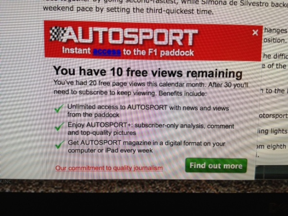 And here is What Autosport looks like when they are...