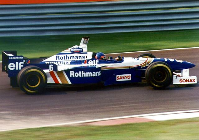 Jacque Villenuve in his Williams  FW19 - When Jacque Villenuve in his Williams  FW19 - When tires were a lot more innocent. Those days however are long gone...