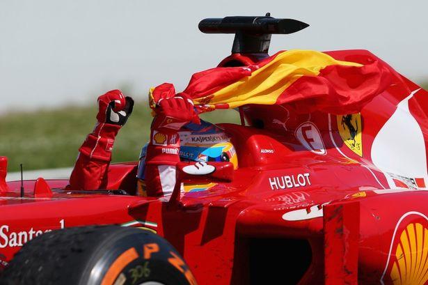 Fernando Alonso win his home Grand Prix. Sweetness.