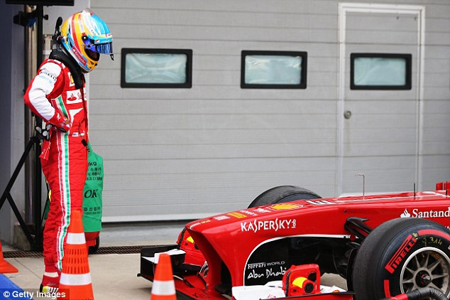 The Ferrari of Alonso will start tenth. What is going on Maranello??