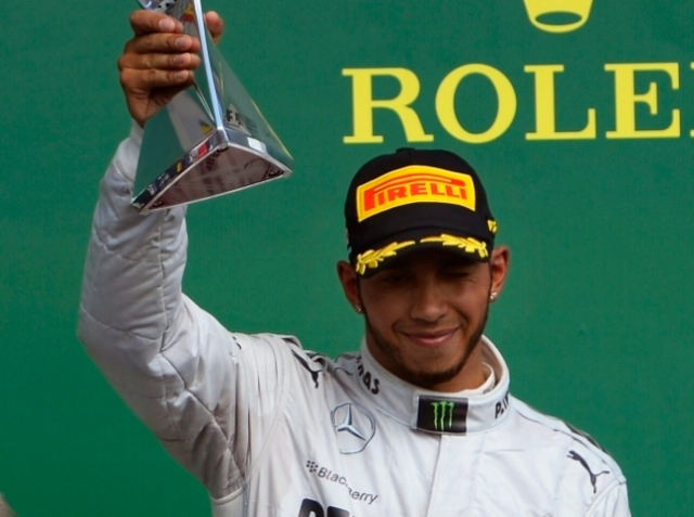 Lewis finished third but must have been relieved that he didn't end up twelfth.