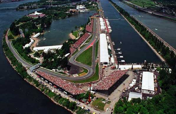 The Canadian GP, circuit Gilles Villeneuve is nothing shot of  absolutely beautiful.  The racing is always exciting. This year did not disappoint.