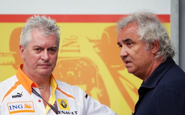 Flavio Briatore and Pay Symonds - Master mind and co-conspirator. They hatch a plan to keep ING Bank in the sport but must commit a horrible sin.