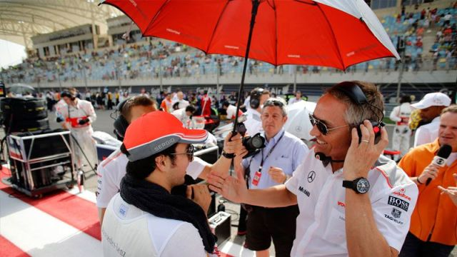 """Martin Whitmarsh tells Sergio to """"toughen up."""" and that is exactly what his driver did..."""