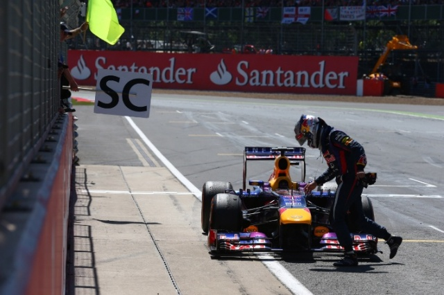 Sebastian Vettel was also on track for the win. He also fell victim - of a gearbox however.