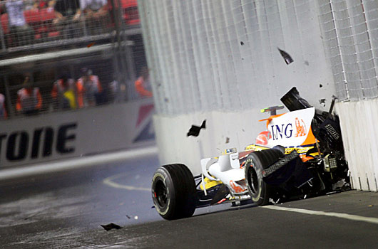 Nelson Piquet Jr. crashes out of the Sinapore GP, as a result team mate Fernando Alonso wins the race. Immediately there is talk of the unthinkable - The race was fixed.