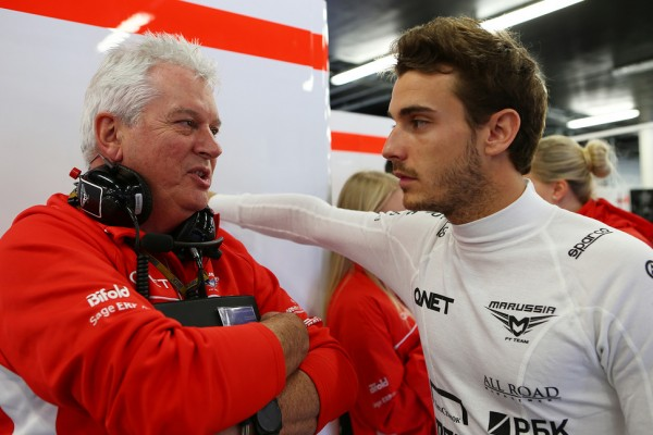 A deal was brokered with the FIA allowing  Symonds to consult. Symonds at Marussia F1, not quite hands on, but better than nothing.