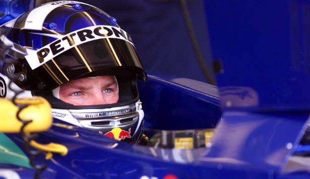 Here is Kimi in a Sauber.  Peter know a good driver when he saw one. Don't forget Peter Sauber gave Michael a drive in GT.