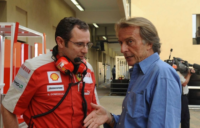 di Montezemolo with team principal Stefano Domenicali - If Alonso got an earful for a few naughty words, what did Stefano get for making the car worse?