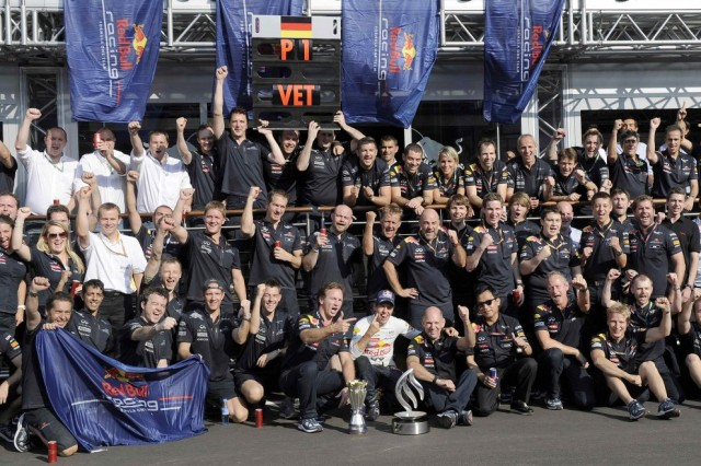 The Red Bull Team. There dominates has been crushing - six World Championships but like all great empires there is always and end. 2014??