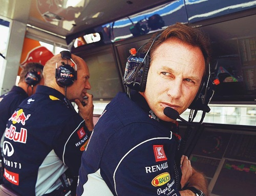 Adrian Newey and Christian Horner - They will have quite a bit to think about in the off season. Raikkonen could have been wearing blue instead it will be red.