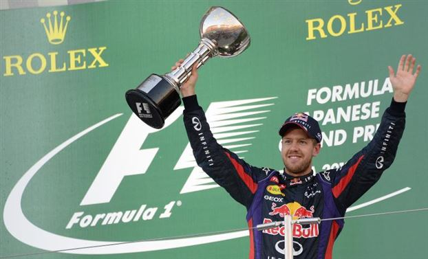 Vettel has now won five races in a row. He just might win out. When you got it, you got it and the RB9 in Vettel's hands has defiantly got it!!!