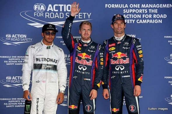 The top three finishers for Sunday's Korean GP and by now you must all know their names. I was expecting Lewis Hamilton to be on pole, looking as his body language, he mush have been thinking the same...