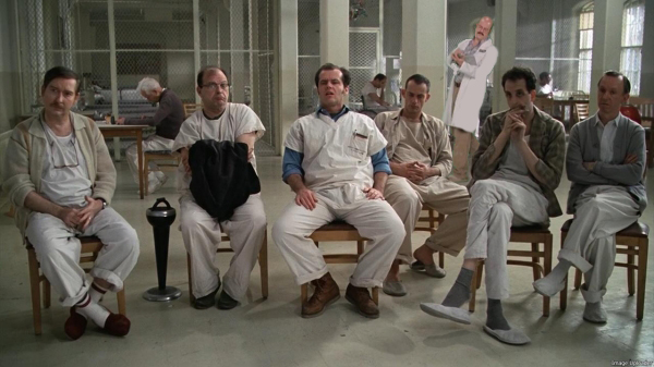 One Flew Over the Cuckoo's Nest - One of the greatest movies ever made. if you have not had a chance to see this, make it a priority...