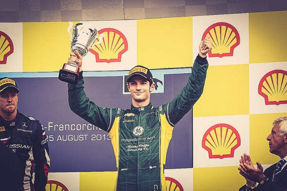 Alexander on the podium in Belgium. I expect to see a lot more of these shots and this is exactly what America needs to see to get us all into F1 again.
