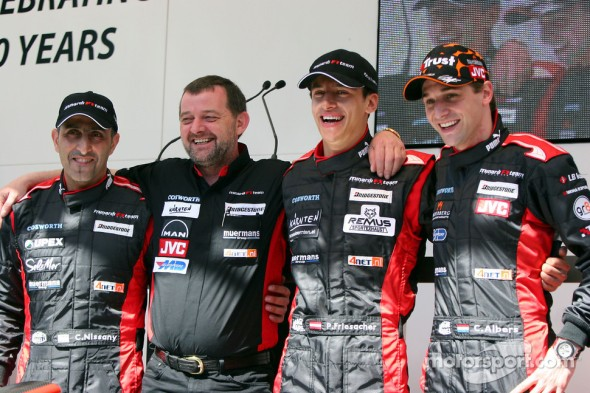 I recognize the Paul Stoddart and of course I know the team Minardi, but  the guy to Paul's left. Who the hell is Patrick Friesacher and what happened to him?