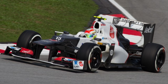 Perez at work in a Sauber. It was his performance at Malaysia and Italy in 2012 that caught everyone's attention including the world class organization of McLaren International.