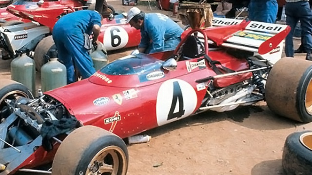 Here is a Ferrari from the 60's. I had to crop most of the picture out, but you get the point. Is it any wonder why reliability was a issue in this era?